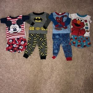 Other - Mickey, Batman Spider-Man, Elmo Pj's 18 month